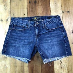 Lucky Brand Abbey Cut Off Jean Shorts 4/27